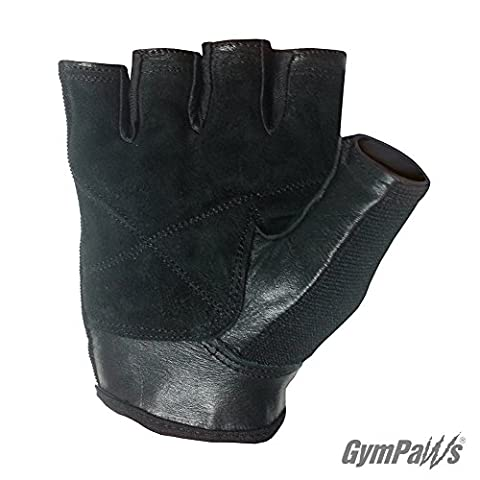 The GymRat™ Weight Lifting Gym Gloves For Women |Genuine Suede w/ Exclusive V02Max™ Ventilator Mesh Fabric | Machine Washable (Basic Black,