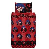 Miraculous Ladybug Bedding Single Duvet with Pillowcase Kids Duvet Cover Single Bedding Sets for Girls