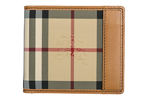 Brieftaschen Burberry (Brieftaschen Burberry Herren Stoff Braun und Check burberry 3938200 Braun 9.5x11 cm)