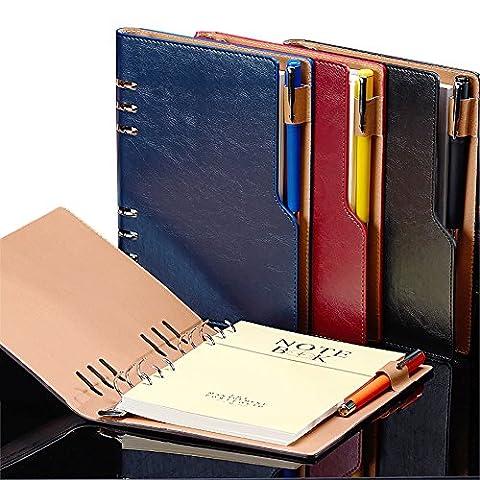 Zhi Jin A5classique Cuir épais ordinateur portable Journal Coque rigide
