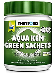 Thetford Aqua KEM Green WC bustine–Scatola da 15