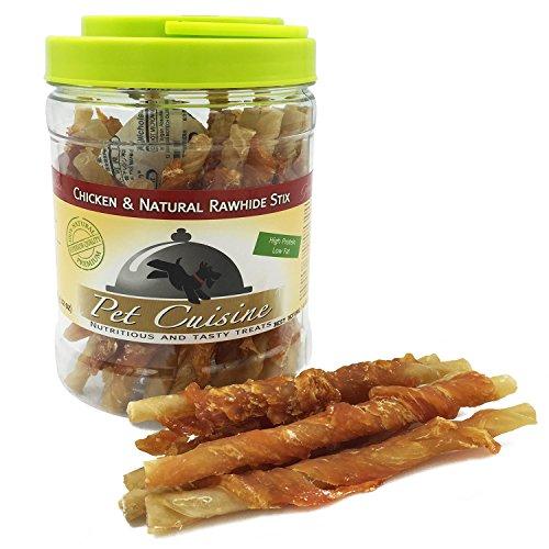 pet-cuisine-hundesnacks-hundeleckerli-kausnacks-hahnchen-naturliche-rinderhaut-kaurollen-340g