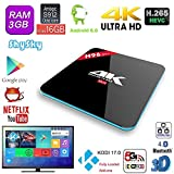 H96 Pro Android 6.0 3GB/16GB TV Box, MK Amlogic S912 Octa Core 4K UHD 3D préinstallé plein Loaded Double WiFi 2.4G/5G Bluetooth 4.0 1000M Ethernet Streaming Media Player (H96 Pro 3GB/16GB)