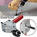 Feuille de coupe de métal de grignotage, 4EVERHOPE Grignoteuse Saw Cutter Tool Ciseaux de perceuse électrique Ciseaux d'outils de coupe de scie