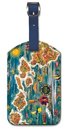 kofferanhanger-gepackanhanger-kunstleder-bag-tags-dole-map-of-hawaiian-islands-von-joseph-feher
