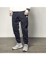 Pantalones de harén lavado Vintage Vestido de calle americano pie ocio pantalón,XL