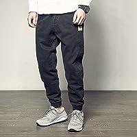 RIVI Pantalones de harén Lavado Vintage Vestido de Calle Americano pie Ocio pantalón,XL