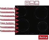 Amica KMI 13332 Induktionskochfeld - Schott Ceran 60 cm Sensortasten Timer