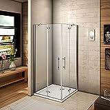 700x 700x rahmenlose Eckeinstieg Dusche Duschfalttür Gehäuse