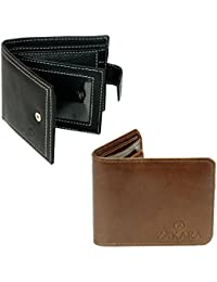 Zakara Combo Pack of Soft Genuine Leather Wallet Buy 1 Get 1 Free (LW-01)