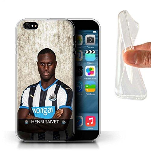 Officiel Newcastle United FC Coque / Etui Gel TPU pour Apple iPhone 6+/Plus 5.5 / Pack 25pcs Design / NUFC Joueur Football 15/16 Collection Saivet