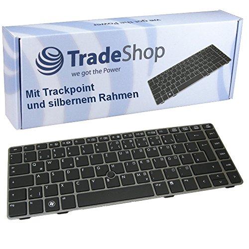 Original Tastatur Notebook Keyboard Deutsch QWERTZ mit Trackpoint/Silber Rahmen für HP ProBook 6460 6465 6465b 6460b 6470B 6475B (Deutsches Tastaturlayout) - 6460 Notebooks