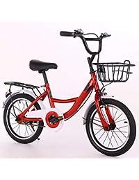 WN-PZF Bicicleta de una Velocidad, Deportes al Aire Libre para niños y Estudiantes, Cuadro de Acero con Alto Contenido de Carbono + cestos convenientes + estantes Reforzados