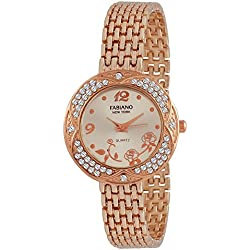 Fabiano New York Casual & Party-Wedding Rose Gold Metal Women & Girls Analog Wrist Watch FNY092