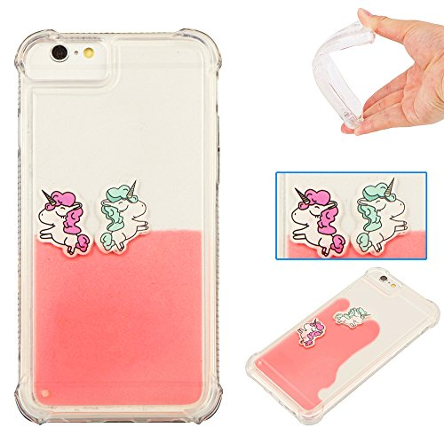 "Apple Iphone 6 Plus Coque silicone, Iphone 6 Plus Coque Antichoc, Iphone 6S Plus Coque silicone, Iphone 6S Plus Case silicone, Iphone 6 Plus Case Glitter, Coque Iphone 6 Plus Neuf, Iphone 6S Plus Accessoire, Nnopbeclik® (5.5 Pouce) Liquide Briller Charmant en 3D Cartoon Motif Style Backcover Transparente Case Doux Soft Housse Protection Antiglisse Anti-Scratch Étui ""NOT FOR IPHONE 6/6S 4.7"" - [Pink]"
