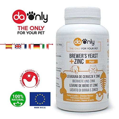 DAONLY Lievito di Birra per Il Pelo, rinforza e Dona lucentezza al Pelo del Tuo Animale, previene la Perdita di Pelo nei Cani, Unghie e Pelle in Condizioni Normali, vitamina E antiossidante