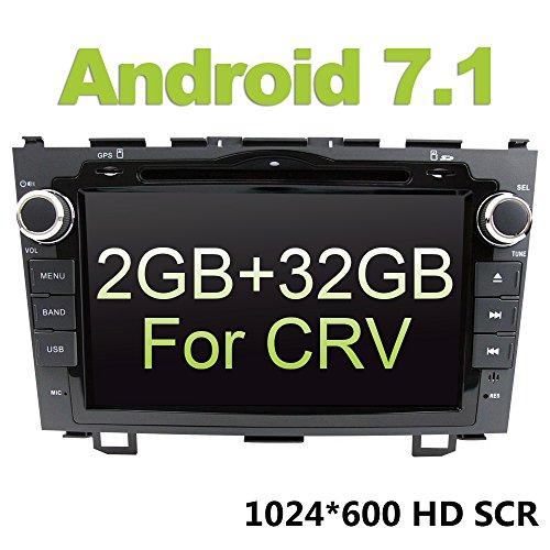 Auto Stereo GPS, eunavi 20,3cm Android 6.0-INDASH Navigation Doppel DIN Autoradio Video CD DVD Player Auto Stereo Kit für Honda CRV CR-V 200620072008200920102011Touch Bildschirm Head Unit SAT NAVI (Stereo-crv Auto)