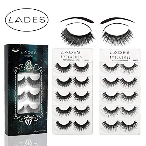 False Eyelashes - 10 Pair Multipack Natural 3D False Eyelashes Natural Look For Makeup Eyelashes Extension