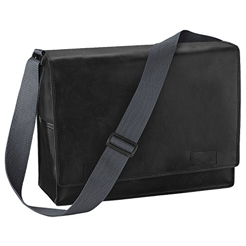 BagBase Budget Promo Messenger-Tasche/Schultertasche, 15 Liter (Einheitsgröße) (Schwarz) (Budget-tasche)