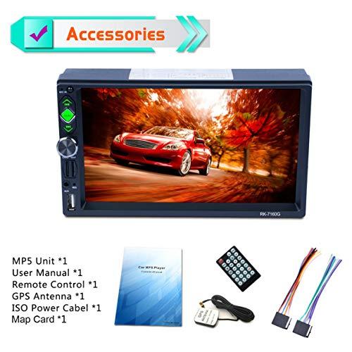 Unité MP5, Voiture MP4 7 Pouces Écran Tactile Vue arrière Bluetooth Charge Rapide FM/RDS Autoradio Navigation GPS Lecteur multimédia Voiture