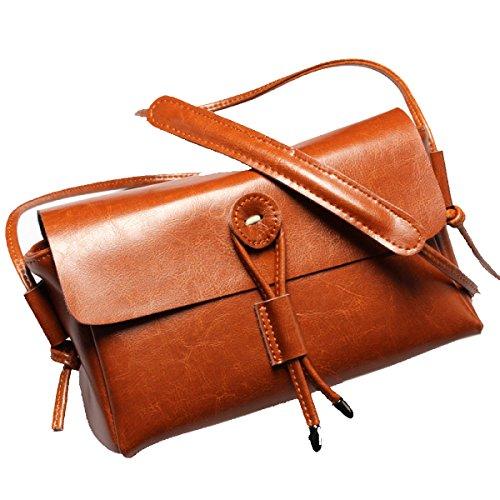 Yy.f Nuove Borse In Pelle Borse In Pelle Borse Nuove Signore Borse Casual Borse A Tracolla Donna Del Design Borse Multicolore Brown