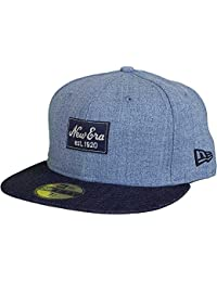NEW ERA 59FIFTY BASECAP - HEATHER PATCH - HEATHER GREY / BLACK