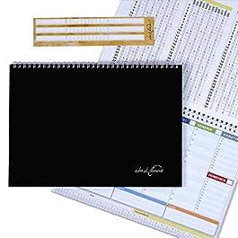 CAMPUS – Planner settimanale 30×21 – agenda planner da tavolo perpetua con spirale metallica