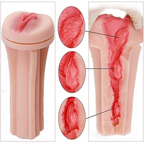 Masturbieren Männer 3D Realistisch Vagina Taschenmuschi Masturbator Pussy Muschi Masturbation Sexspielzeug für Männer mit Gleitgel - 3