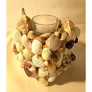KERZEN TÖPFCHEN aus Muscheln in eigener Handarbeit hergestellt