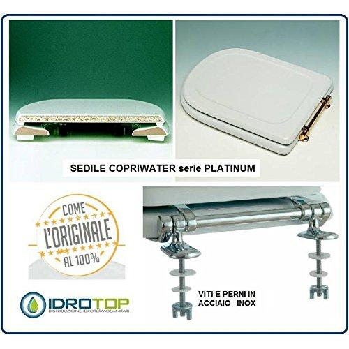 Sedile Wc Ideal Standard Serie Tesi.Acb Colbam Copriwater In Legno Rivestito Di Poliestere Per Ideal