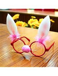 Libeauty Marco de gafas de Navidad para niños, decoraciones navideñas, regalos de la fiesta de Navidad (embalaje de Opp Bag)