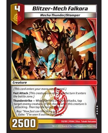 Kaijudo TCG - Blitzer-Mech Falkora (50/80) - Shattered Alliances by Kaijudo: Rise of the Duel Masters