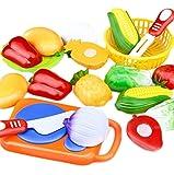 Dosige 1 Ensemble Jeu D'imitation Jouets de Fruits Légumes Enfants Jouet Educatif Jouets de Cuisine Ensemble Bébé et Enfants Jouets Jeu de decouper