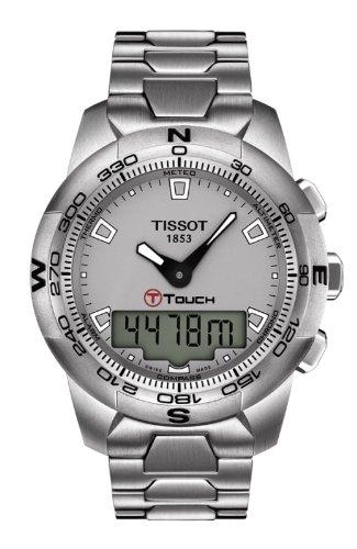 Tissot T-TOUCH T0474201107100 – Reloj de caballero automático, correa de piel color negro