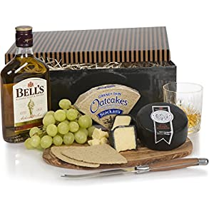 Whisky & Cheese Gift Set - Christmas Hampers For Him - Cheese Hampers And Men's Gifts For Xmas - Free UK Delivery by Clearwater Hampers