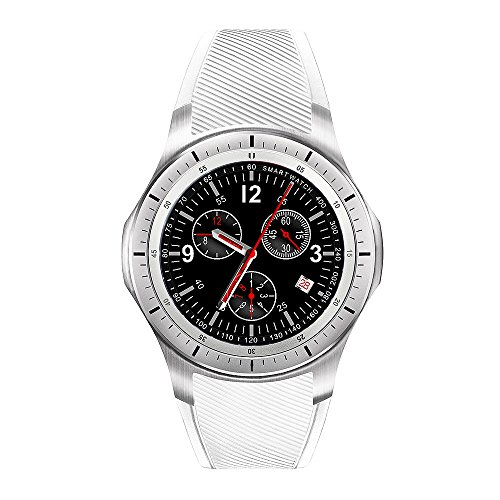 LEMFO Waterproof Multifunction Smart Silicone - LEMFO LF16 IP65 Waterproof Multifunction Smart Sport Watch Silicone Strap - White