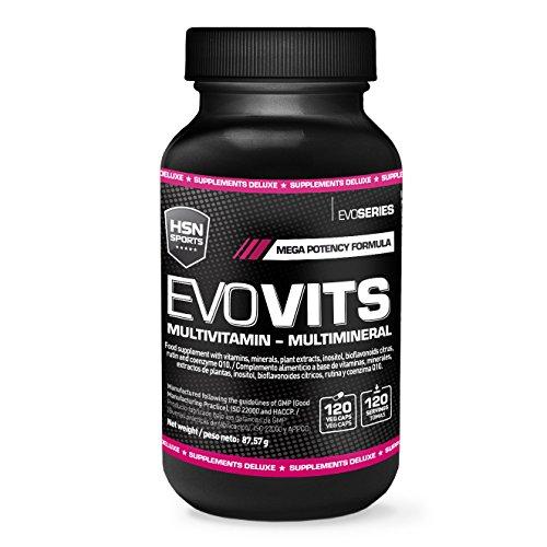 HSN Sports - Evovits Multivitaminas, Minerales - Complejo Multivitamínico para Mujer, Hombre, Veganos y Deportistas - 120 Capsulas