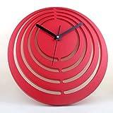 Orologio da parete (, Silenzioso, grande manopola moderno Con Adatto a cucina) Red 12 pollici