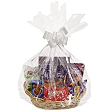 JVL Ovale Make Your Own Gift Cestino Cesto Kit, 39 x 34 x H14 CM