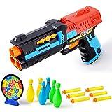 Etbotu Kinder Lieblings Simulation Weiche Kugel Pistole Spielzeug Military Modell Schießen Spiel Gun Boys Favor Gaming Spielzeugpistole, kommt mit Schießen Target Board und 6 Bowling Pins