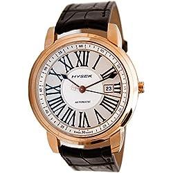 Hysek IO4301r02 - Reloj para hombres, correa de cuero color negro