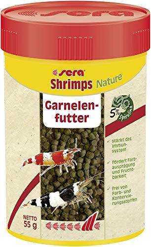 sera shrimps natural 100 ml ein Garnelenfutter speziell für die Bedürfnisse von Garnelen entwickelt, ein Züchterfutter für Garnelen im Aquarium
