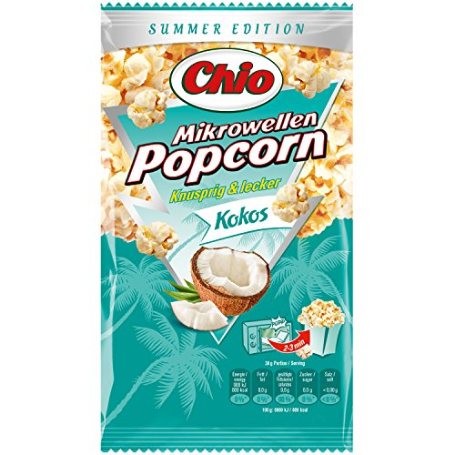 Produktbild Mikrowellen Popcorn KOKOS (3 Portionen / 100 g) SUMMER EDITION