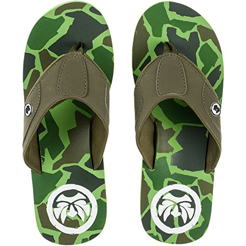 MENS URBAN BEACH MIRAGE CAMOFLAUGE TOE POST FLIP FLOPS BEACH SANDALS -UK 8 (EU 42)