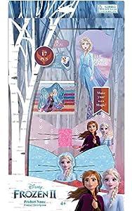 Disney Frozen- Set 16 pzas Pelo y Cepillo 2 Sets de cosmética y joyería (Kids 8435507822923)