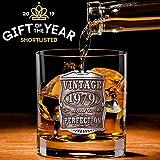 English Pewter Company VIN004 - Vaso de cristal para whisky (año 1979, 40 cumpleaños o aniversario)