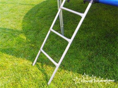 Trampolin mit Sicherheitsnetz, inklusive Leiter und Randabdeckung Gartentrampolin 250, 305, 370, 400, 430cm (10FT / 305cm)