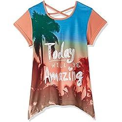 Cherokee Girls' T-Shirt (269890157 PEACH 11Y HS)