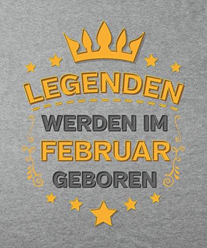 -- Legenden werden im Februar geboren -- Boys T-Shirt Sports Grey
