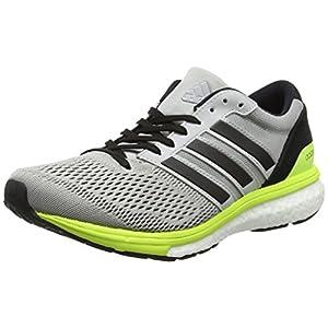adidas Adizero Boston 6 W, Zapatillas de Running para Mujer, Gris (Gridos/Negbas / Amasol), 38 EU